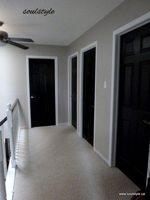 Black Foyer Doors : Upper hall black interior doors home sweet