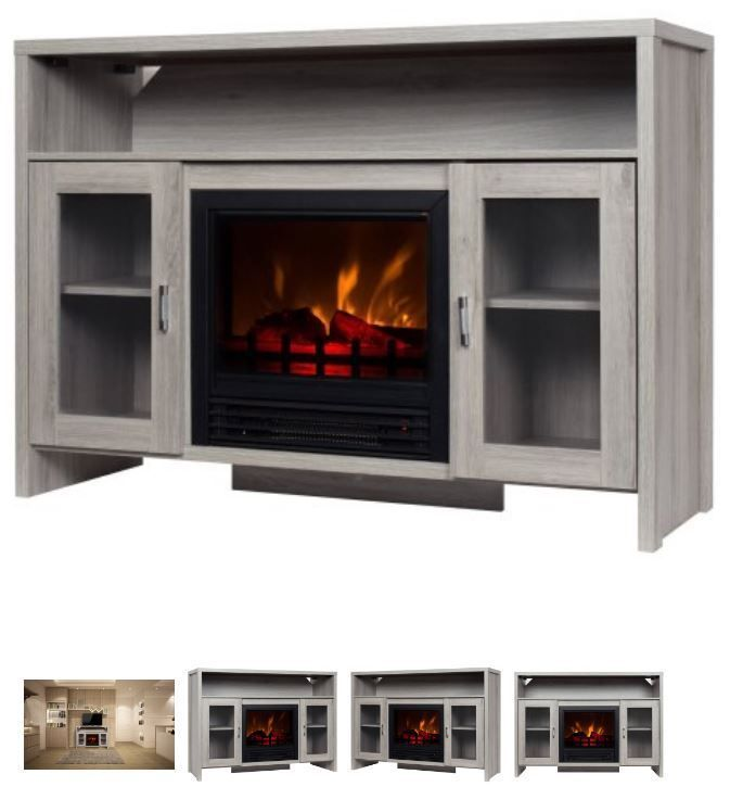 42 Inch TV Stand With Fireplace Media Console Electric Entertainment Center SALE #DECORFLAME #Modern