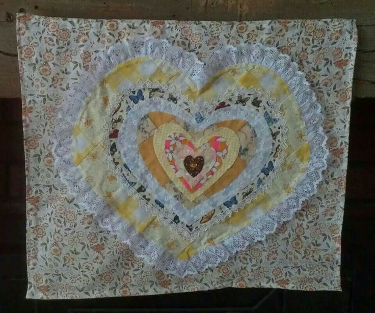 heart from fabric, using hot glue gun!