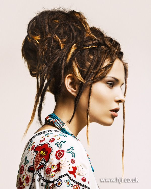 White Dreadlock Styles for Women | Dreadlocks Updo Hairstyles For A Unique Look