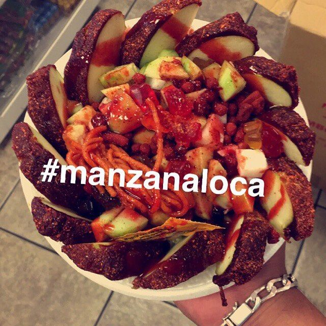 The best manzanas locas in california you can only find them @zurysraspados @zurysraspados @zurysraspados   I want this so bad! And they're so close to home.