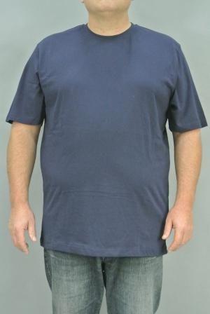 T-Shirt Uomo Gricollo Mezza Manica Taglie Grandi  T-Shirt Uomo Mezza Manica Taglie Over Max Fort | T-shirt | 21011 BLU