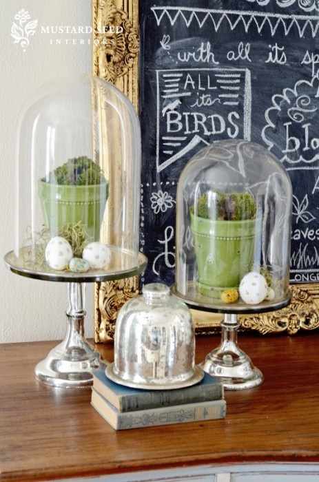 Bell Decor Amazing 9 Best Glass Clouche Images On Pinterest  Bell Jars Easter Decorating Design