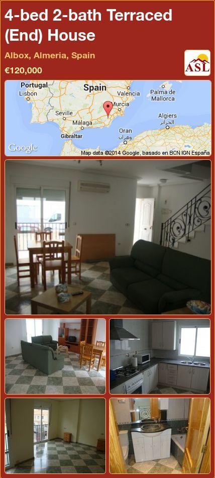 4-bed 2-bath Terraced (End) House in Albox, Almeria, Spain ►€120,000 #PropertyForSaleInSpain
