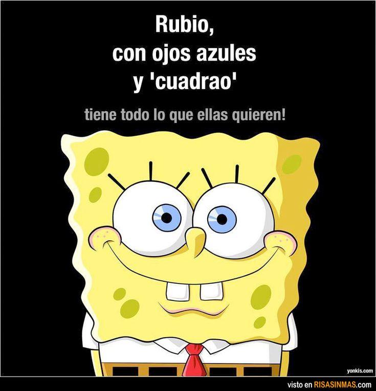 Rubio, ojos azules y