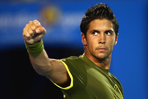 Fernando Verdasco goes down fighting in a show of amazing power hitting vs Rafa Nadal at the 2008 Australian Open Final.   The match lasted an astounding 5 hrs 12 mins !