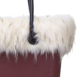 Murmasky Faux Fur Trim - White - O Bag Accessory. A finishing touch for the standard O bags. Fixes inside to the ends of the handles. NOTE: Not real fur.