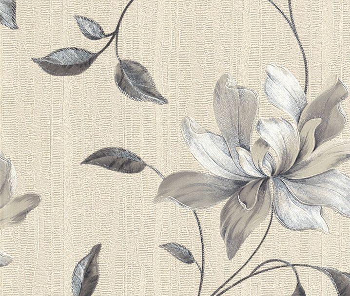rasch behang | Rasch Elegance Bellisima Vinyl Wallpaper Silver 511048