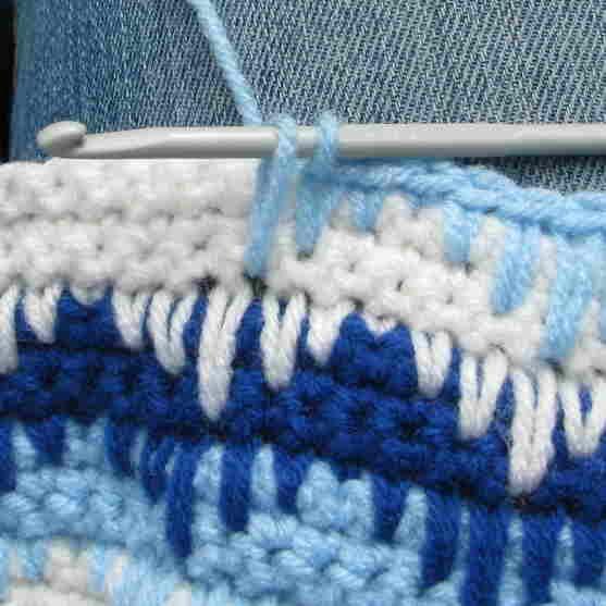 Crochet Sampler Pattern - Zigzag Pattern with Long Single Crochet