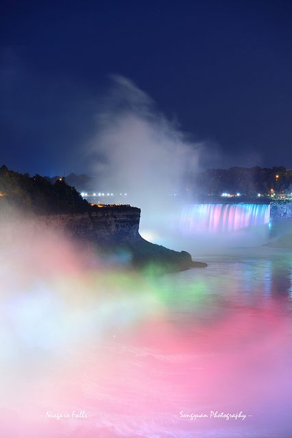 Niagara Falls in colors   - Explore the World with Travel Nerd Nici, one Country at a Time. http://TravelNerdNici.com