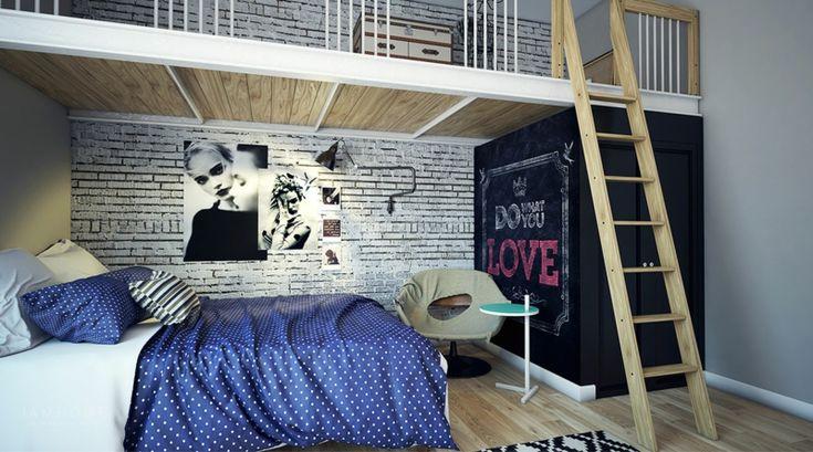 Auch bei Mädchen kann der Street Style als Zimmergestaltung gewählt werden