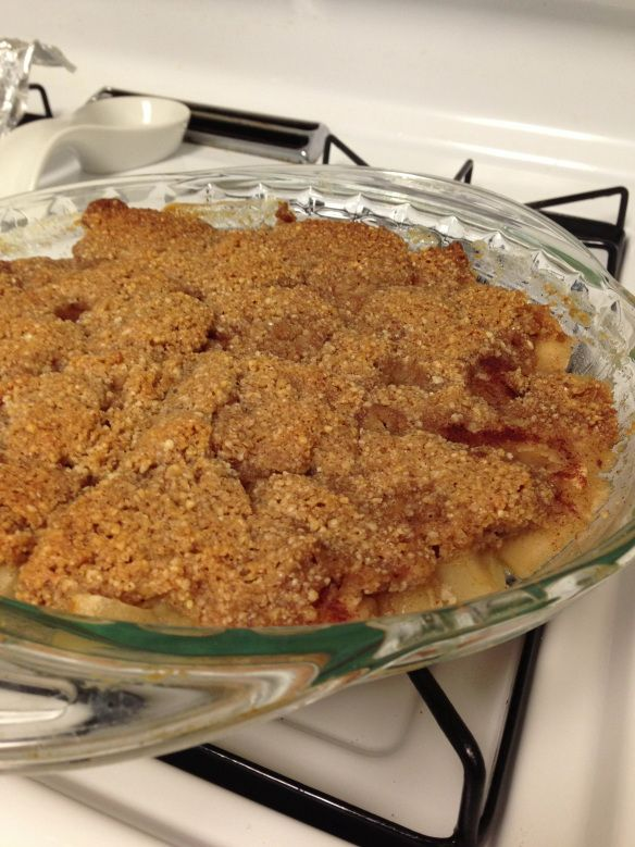 Paleo apple crisp! Made this tonight, and it was SO good! Subbed grass-fed butter for the coconut oil (and used less of it).