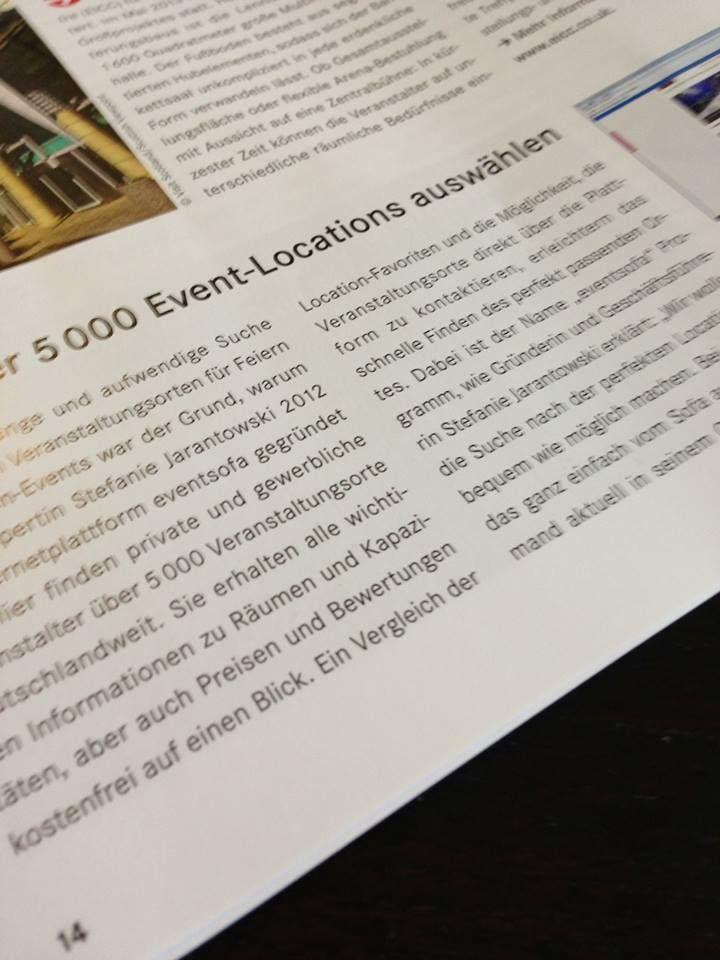 """YEAH! working@office stellt in der aktuellen Ausgabe #eventsofa vor: """"Aus über 5 000 Event-Locations auswählen"""". Wir sagen DANKE!"""
