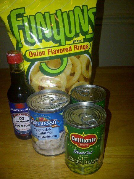 Kit Kat plus celiac : Gluten Free Green Bean Casserole Semi-Homemade