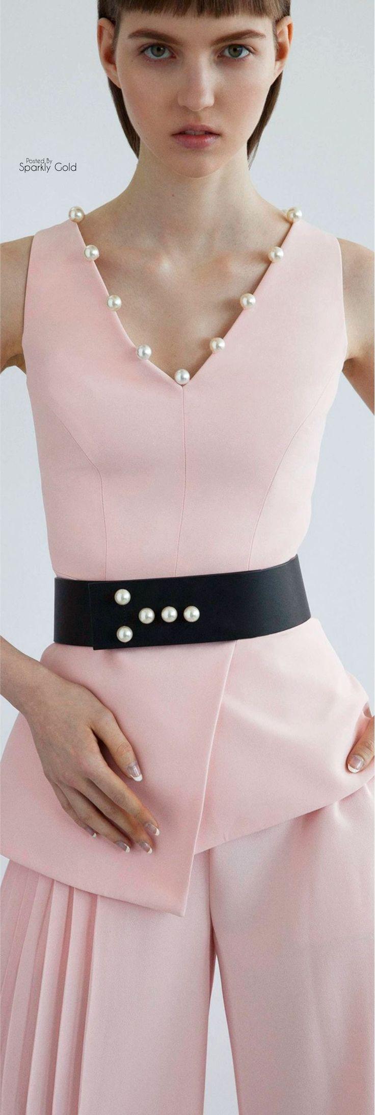 Pale pink matching set. Pearl embellishments