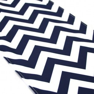 Chevron Table Runner - Navy Blue | Use for a Nautical centerpiece or tablescape