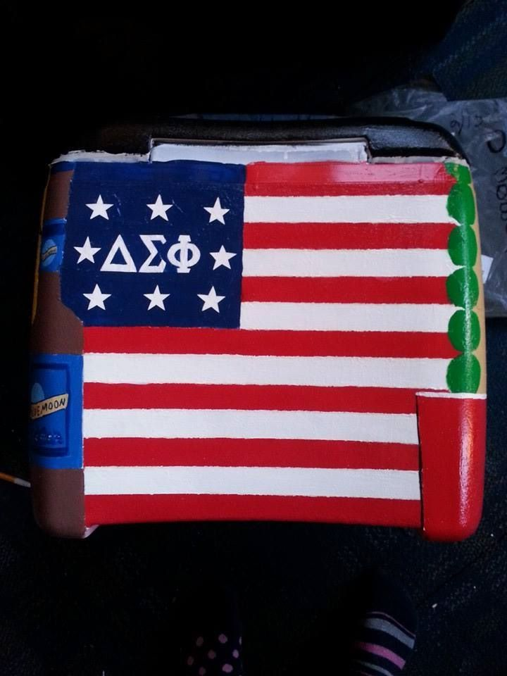 American Flag Fraternity Cooler | The Cooler Connection on Pinterest