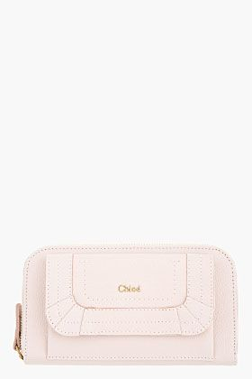 Chloe Nude Pink Grained Calfskin Paraty Continental Wallet for women   SSENSE