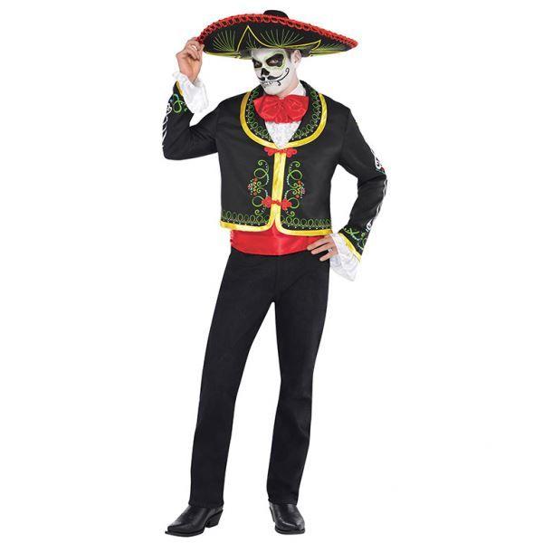 Halloween Senor Day of the Dead Costume Fancy Dress. Dia de Los Muertos party.