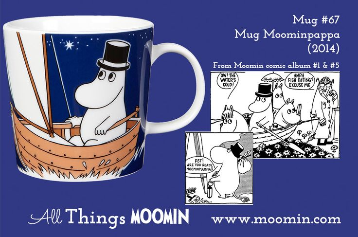 67 Moomin mug Moominpappa 2014