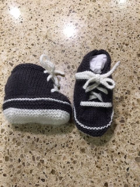 Just finished Baby Sneakers by Little French Knits