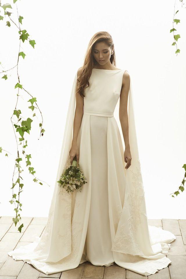 Ethereal Caped Wedding Dress | Vania Romoff Bridal