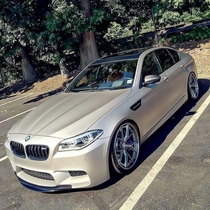 Awesome BMW: BMW F10 M5 beige slammed...  Car Lover!! Check more at http://24car.top/2017/2017/04/06/bmw-bmw-f10-m5-beige-slammed-car-lover/