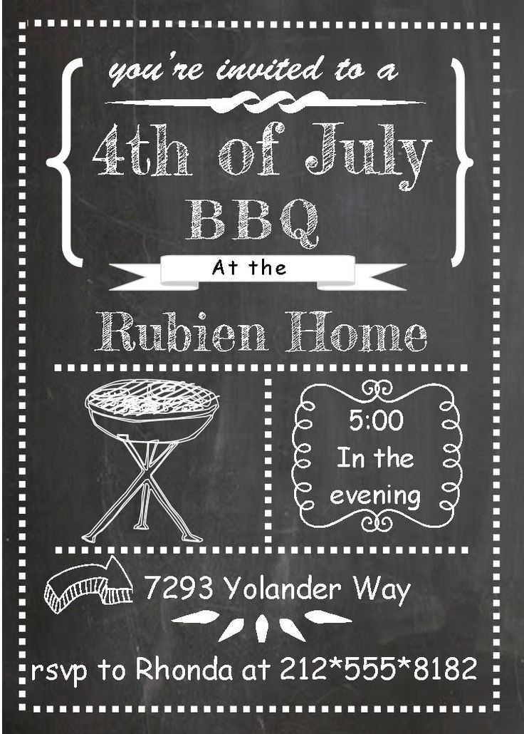 61 best 4th of july party invitations images on Pinterest | Party ...