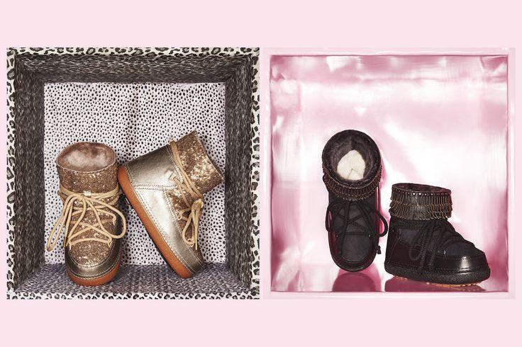 IKKII Boots Sequin Gold & Punk Fray Studs