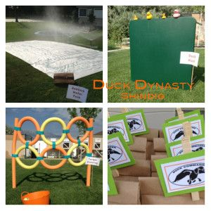 DIY Duck Dynasty PArty Ideas- SO FUN.  I am so doing this.Redneck waterpark