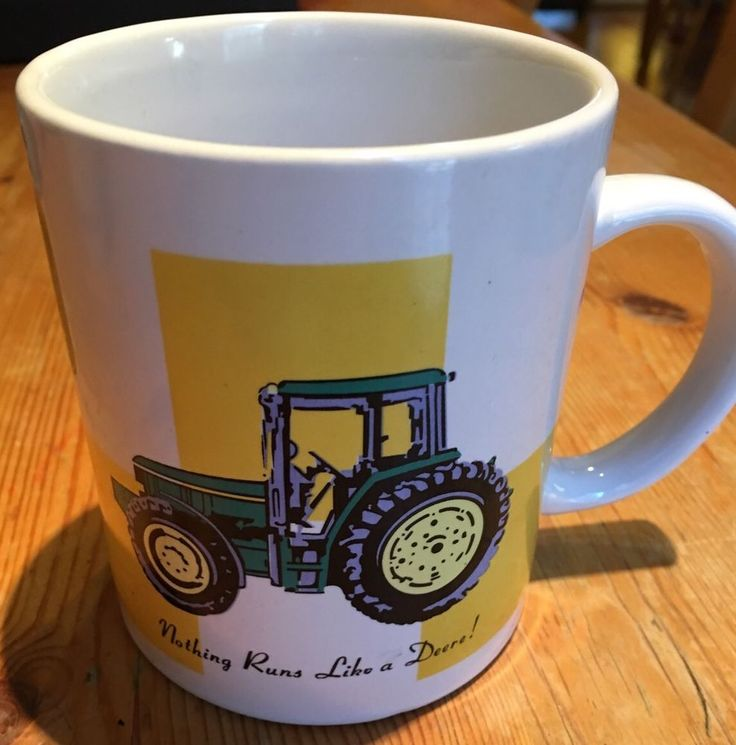 Vintage John Deere Coffee Or Tea Mug Nothing Runs Like A Deere Excellent  | eBay