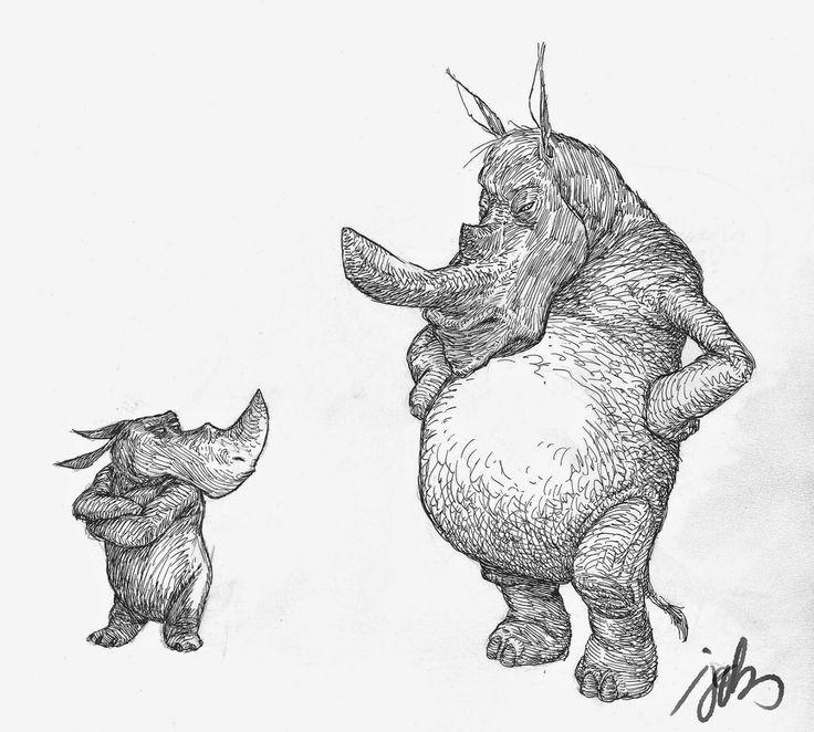 rhinos by JTQ3