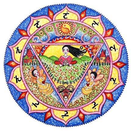 3rd Chakra Mandala Art Print Solar Plexus Nahbi Inspirational Healing Art yoga meditation art by LindyLonghurst on Etsy https://www.etsy.com/listing/37860080/3rd-chakra-mandala-art-print-solar
