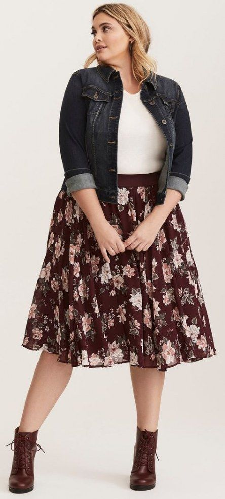 45 Ideas skirt plus size outfit winter 3
