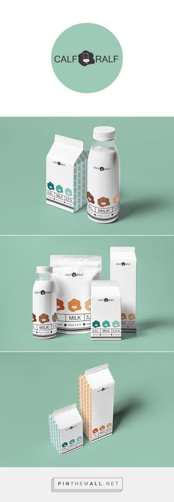 Calf Ralf milk y Katya Oposhnyanskaya. Pin curate by #SFields99 #packaging #design