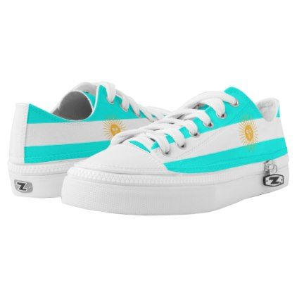 Argentinian flag Low-Top sneakers - pattern sample design template diy cyo customize