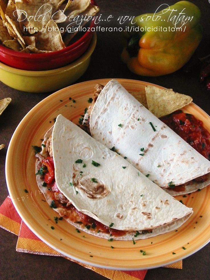Fajitas di pollo e tortillas, ricetta messicana