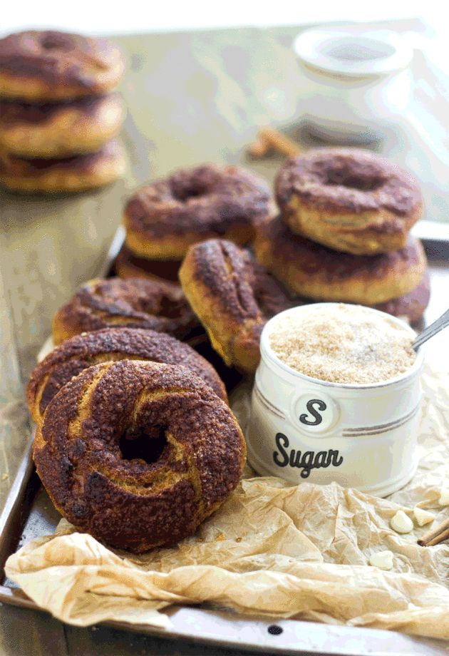 Panera Bread Cinnamon Crunch Bagels are half whole wheat and contain hardly any sugar. So you feel good about what you're eating.