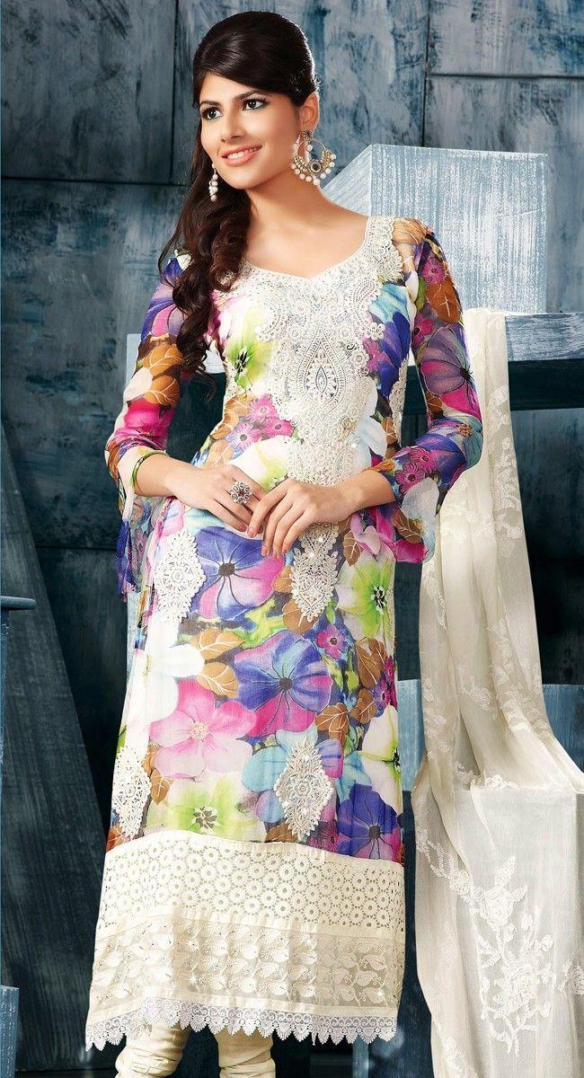 Glamorous Multi Color Designer Salwar Kameez