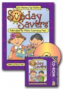 Nursery - Behold Your Little Ones - Primary Lesson Helps - Sunday Savers book and CD-ROM, activities to make learning fun