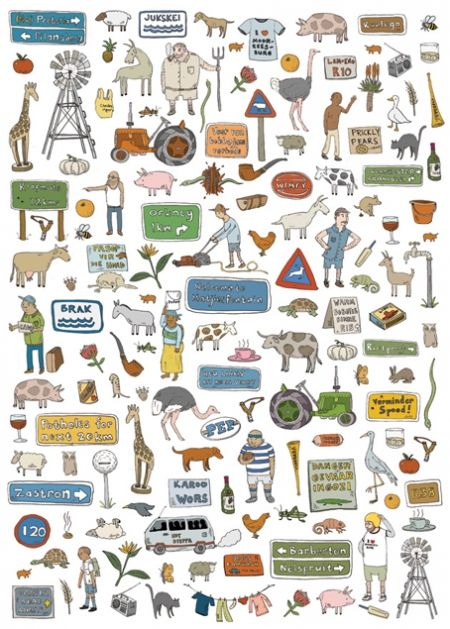 www.south-design.nl - poster of Alex Latimer - icons of Sout Africa - wonderful and hilarious drawings