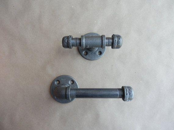 Bathroom Accessory Set Black Pipe 2 Piece Ideal by DerekGoodbrand