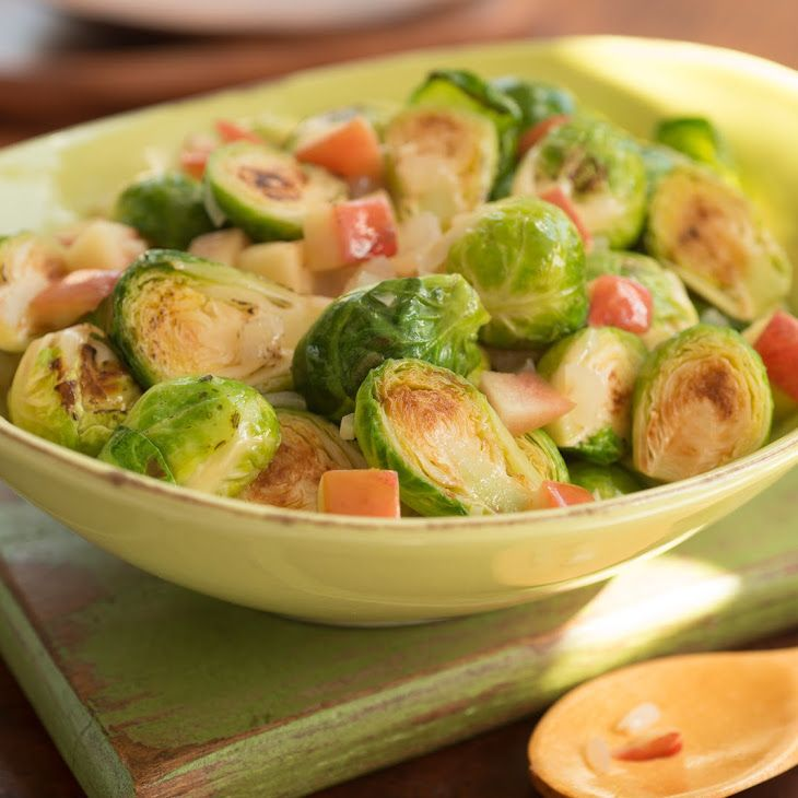 Shredded Brussel Sprout Salad with Apples Recipe