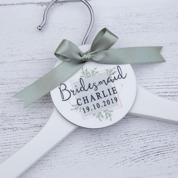 Our Beautiful Printed Bridal Party Hanger Tags Make The Perfect Gift Or Photo Wedding Hangers Personalized Personalized Bridesmaid Hangers Bridal Party Hangers