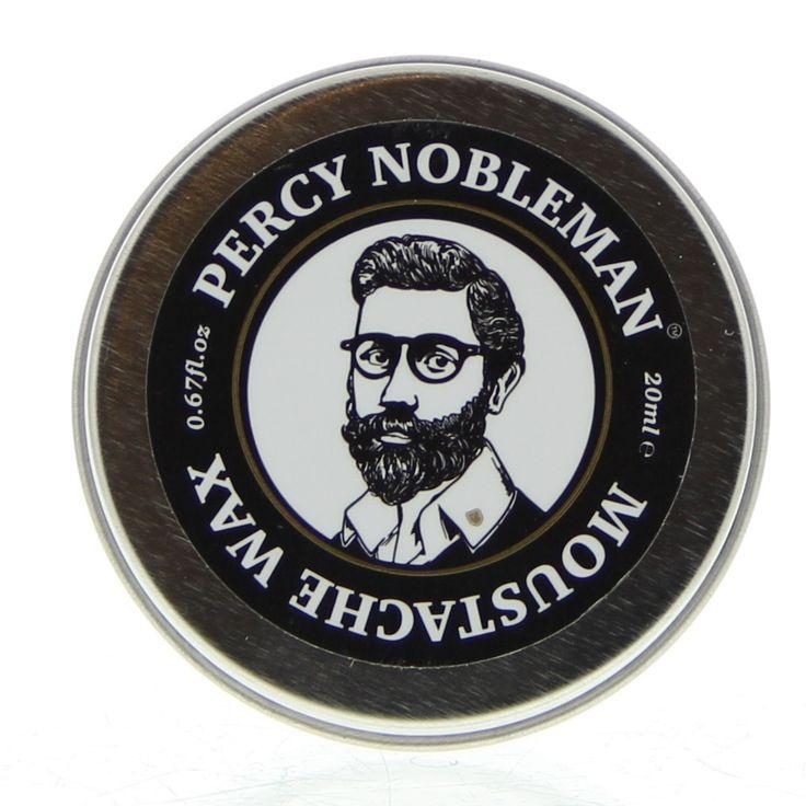 Percy Nobleman Moustache Wax 20ml  Percy Nobleman Moustache Wax. Krijg controle over je eigenzinnige snor! Wees creatief en reshape je snor elke dag. Gemaakt van natuurlijke en pure ingrediënten. Percy Nobleman's Snorrenwax is dé ultieme tool voor het shapen en customizen van je snor. De wax houdt de hele dag maar in zodanige vorm dat restylen gedurende de dag mogelijk is. De wax is gemaakt van vitamine E babassu argan olie gemengd met Amerikaanse honingwax. Dit verzorgings- en…