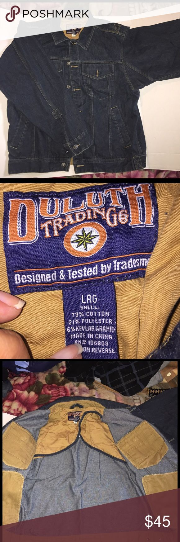 Men's Jean jacket Heavy duty Jean jacket, stretches with you EUC. 📫extra weight📭 Duluth trading co Jackets & Coats