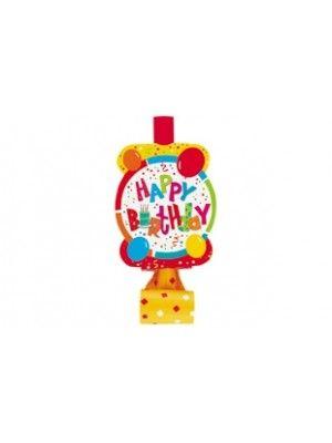 Happy Birthday Parti Düdüğü (8 adet)