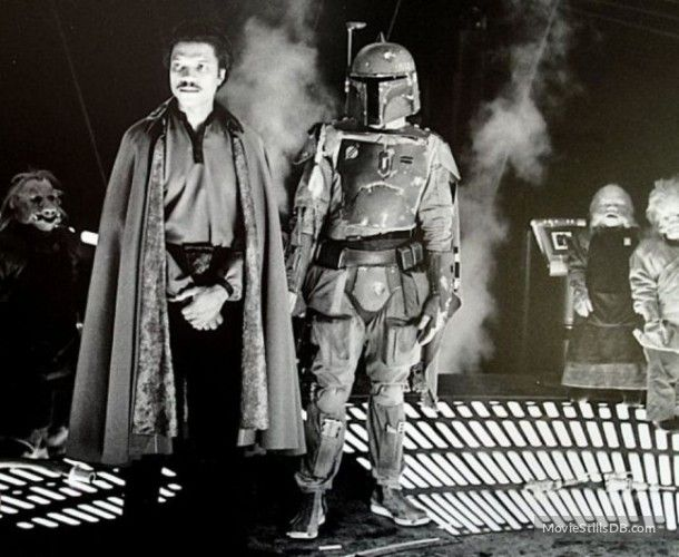 Star Wars: Episode V - The Empire Strikes Back behind the scenes photo of Billy Dee Williams & Jeremy Bulloch