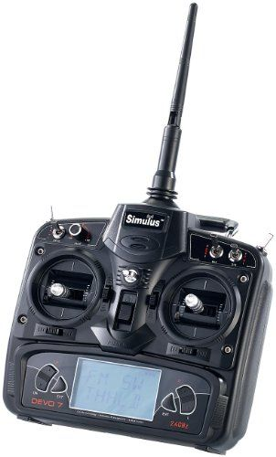 Simulus Funk-Fernsteuerung DEVO-7 für Quadrocopter und RC-Fahrzeuge | Your #1 Source for Toys and Games