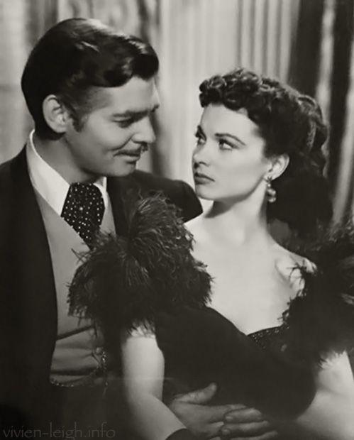 Vivien Leigh and Clark Gable in 1939, in the film 'Gone With the Wind'